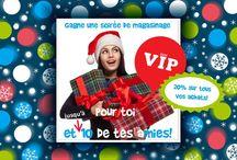 """Soirée VIP / Soirée VIP - Mardi 16 décembre 2014  Pour vous et 5 à 10 de vos amies!  20% sur tous vos achats  Vins et fromages  Détails et inscription: Bon matin! C'est presque la fin de semaine! N'oubliez pas notre Super concours """"Soirée VIP""""!! Modifications importantes au concours: - Pour vous et 5 à 10 de vos amies! - 20% de rabais sur tous les achats que vous ferez pendant cette soirée!  Tous les détails sur: http://www.roxylama.com/pages/soireevip"""