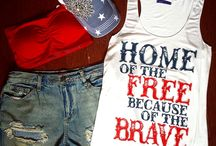 Red, White and Blue / Memorial Day outfit ideas to get you ready for this year's first BBQ of the season!