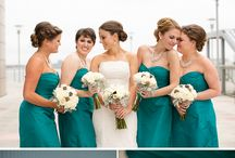 Bridesmaids! / Hey ladies! These are just for ideas... This is the general color I like.  When we actually go shopping and get the dresses I want you all to pick a style that you like! I just like this teal-turquoise-blueish-seafoam whatever this is color!! / by Kristen Hake