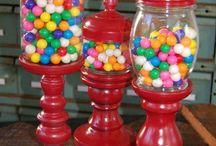 gjenbruk glass og lysestaker