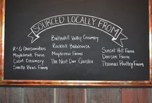Local Sourcing / Locally sourced items at Next Door Kitchen and Bar in Ballston Spa, NY - http://www.eatdinnernextdoor.com