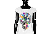T-shirt - Desiderium / Women T-shirt, Limited Edition Designer T-shirt COLOURS OF MY LIFE - Limited Edition wearable art signed by Anca Stefanescu.