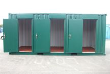 Storage Units  / As one of the most highly regarded Shipping Container Manufacturers, we have converted these ones into storage units for UK based home storage depot.