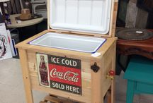 Bar outside freezer