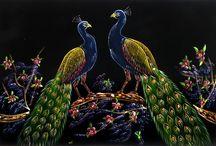 Peacock / draws, paintings, tattoos
