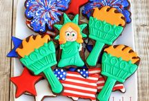 Patriotic Cookies / A collection of patriotic decorated cookies