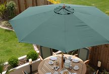 Top Quality Parasol Range / Whether you're shading from the sun or sheltering from a shower, take a look at our fabulous new range of sturdy parasols with many different colours, shapes and sizes.