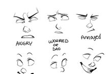 How to draw expressions / How to #draw #facial #expressions.