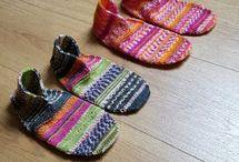 Sapatinhas trico e croche