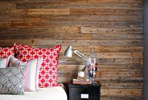 Paredes con madera / Madera agregada a las paredes, algunas recicladas