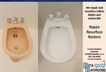 Toilets we've resurfaced