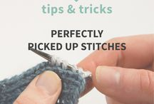 quick trick to pick up stitches