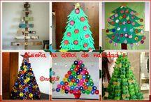Árboles de Navidad / Súper colección de Imágenes Árboles de Navidad con diferentes materiales