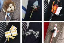 Boutonnieres / There's so much detail that goes into weddings, from the brides intricate work on her trousseau to her jewelry. Let's not keep the groom far behind; they get really creative too!
