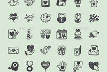 Valentine Day Icons & Graphics