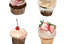 Illustrations : Cakes, Snack & Dessert
