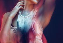 Colour portrait fashion editorial