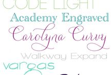 Fonts / by Cathy Andrade