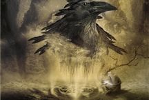 Consorting With Ravens / https://consortingwithravensblog.wordpress.com/ The Mythology, Folklore of Ravens, Crows and Magpies