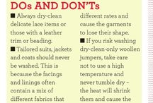 DRY CLEANING TIPS / All the little tips and tricks you wanna know about dry cleaning.