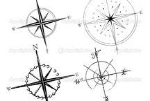 Heart in a compass idea