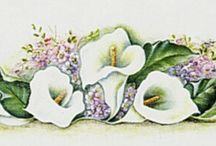 Pintura en tela (Flores)