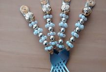DIY: Talheres Decorados!!! / Veja + Inspirações e Dicas de decoração no blog!  www.construindominhacasaclean.com