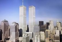 World Trade Center Twin Towers / The original World Trade Center towers of New York City as they looked before 9-11.