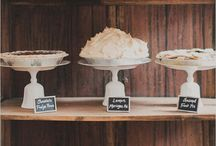Pie Bars & Dessert Tables / We love a beautiful dessert display, especially if it includes pie! Get inspired by these creative pie bars and dessert tables.
