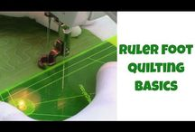 Ruler foot quilting