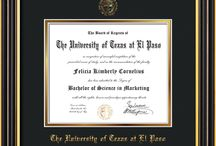 UTEP - University of Texas at El Paso Diploma Frames & Graduation Gifts! / Official UTEP Diploma frames. Exquisitely crafted to exacting specifications for the UTEP diploma. Custom framed using hardwood mouldings and all archival materials, including UV glass to prevent fading from sunlight AND indoor incandescent lighting! Each frame exceeds Library of Congress standards for document preservation and includes a 100% lifetime guarantee, ensuring that a hard-earned achievement will be honored and protected for generations. Makes a thoughtful and unique graduation gift!