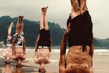 inspired by men's yoga / Inspired by the commitment that these guys make to their practice.