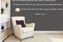 Scripture Wall Decals / Scripture Wall Decals for home decor