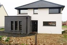 Réalisation à DAINVILLE (Arras) / Maison moderne cubique grand angle à DAINVILLE (62)