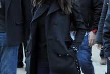 Selena Gomez fall / winter style. Love the coat.