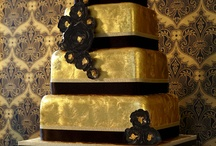 Cake- Metalics / shining with brilliant golds and silvers, these cakes will steal the show / by pc brown