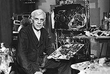 French painter and collagist Georges Braque / Cubist artists: Georges Braque (1882-1963) (Read an article here: http://cubismsite.com/georges-braque-cubism/)