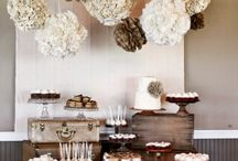 Wedding Reception Decor / Pretty wedding reception decor, lighting and set-up.