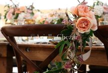 chair flowers...