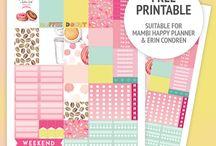 Free printers stikers happy planner