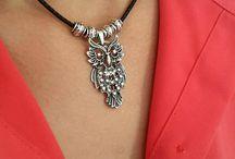 Silver Owl Charm, Animals Silver Necklace, Boho Necklace, Bohemian Necklace, Owl Necklace, Womens Necklace, Animal Jewelry, Silver Charm