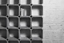 Estanterías modulares concreto grc