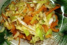 Jamaican steam cabbage and carrots