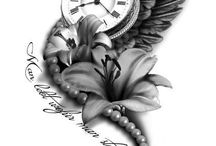 Clock tatoo