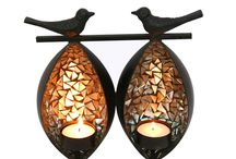 Twin Birds Tea Light Holder