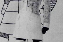 Vintage fashion seventies (1960-1975) / Vintage damesmode en designer kleding tussen 1960 en 1970, uit de zeventiger jaren.