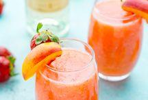 Aardbei en perzik drank