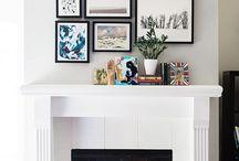 Fireplace picture idea