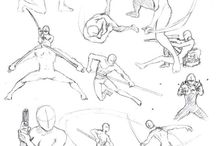 Body sketchs & action models