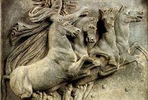 Statues,bronzes  of horses